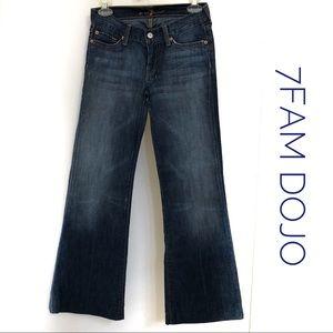 7FAM Dojo Dark Wash 26 Boot cut